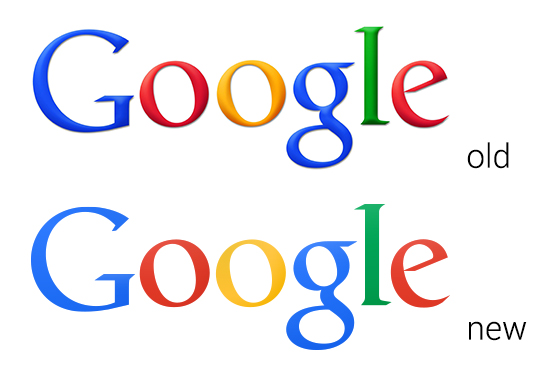 Google new logo comparison
