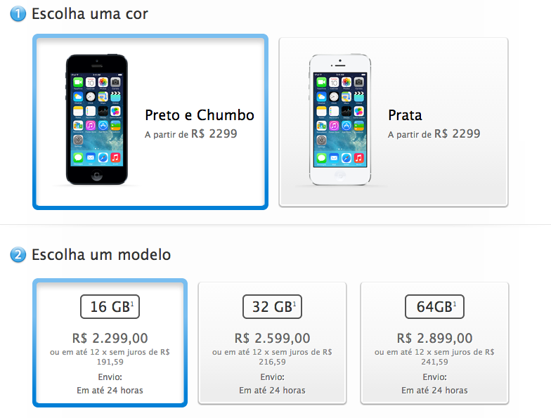 iPhones direct from Apple in Brazil are pretty pricey.