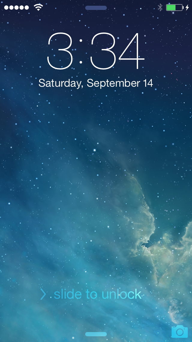 Ipad Lock Screen Ios 7 Enlarge / Ios 7's Lock Screen