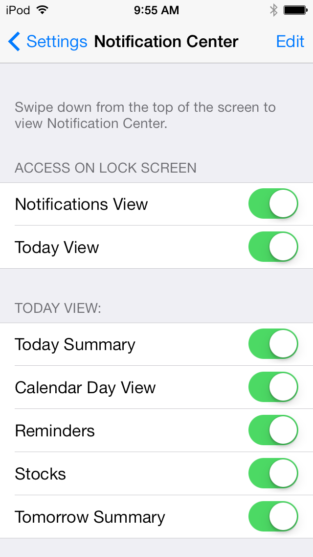 If you'd still like to see standard notifications on the lock screen but not the Today View, both can be toggled independently.
