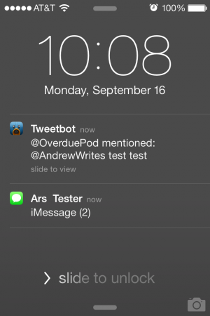 Notifications on the lock screen mostly look and work as they did before.