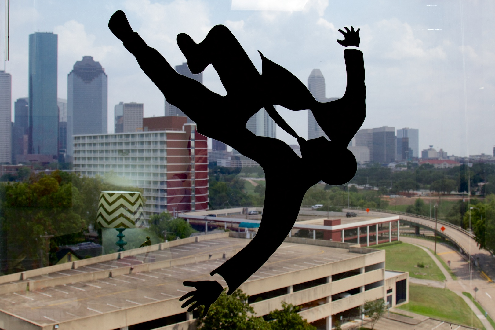 The SnapStream offices near downtown Houston are filled with neat TV memorabilia. Marketing director Rachel Eichenbaum's office, for example, features a <em>Mad Men</em> silhouette falling down against the skyline.