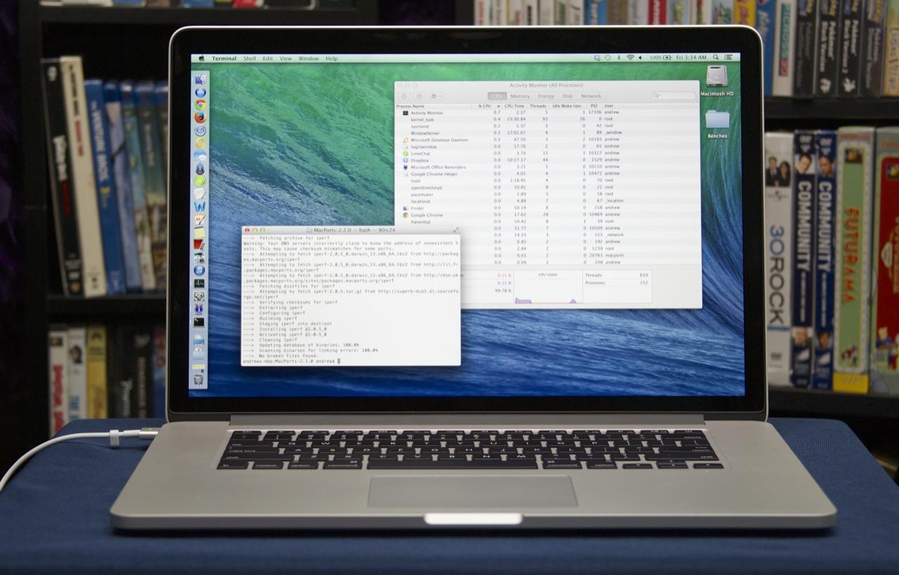 Macbook pro sở hữu pin khủng