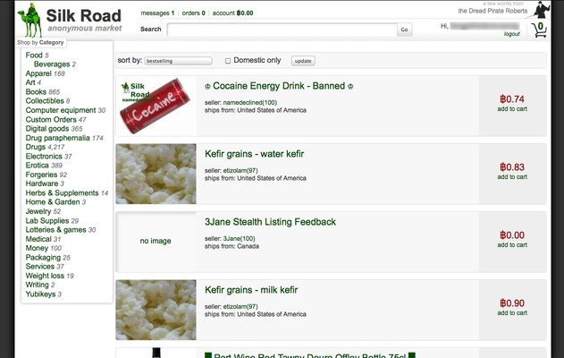 A sample of the good available through Silk Road.