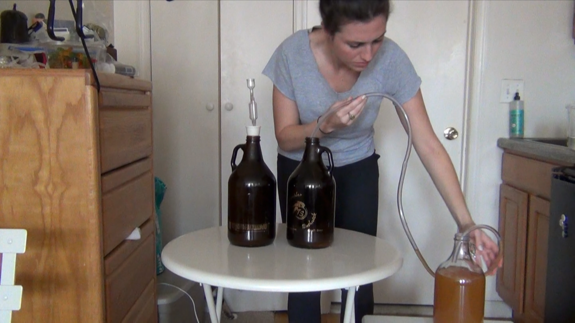 Siphoning: a delicate process that a skilled artisan is likely very good at. I am not that skilled artisan.