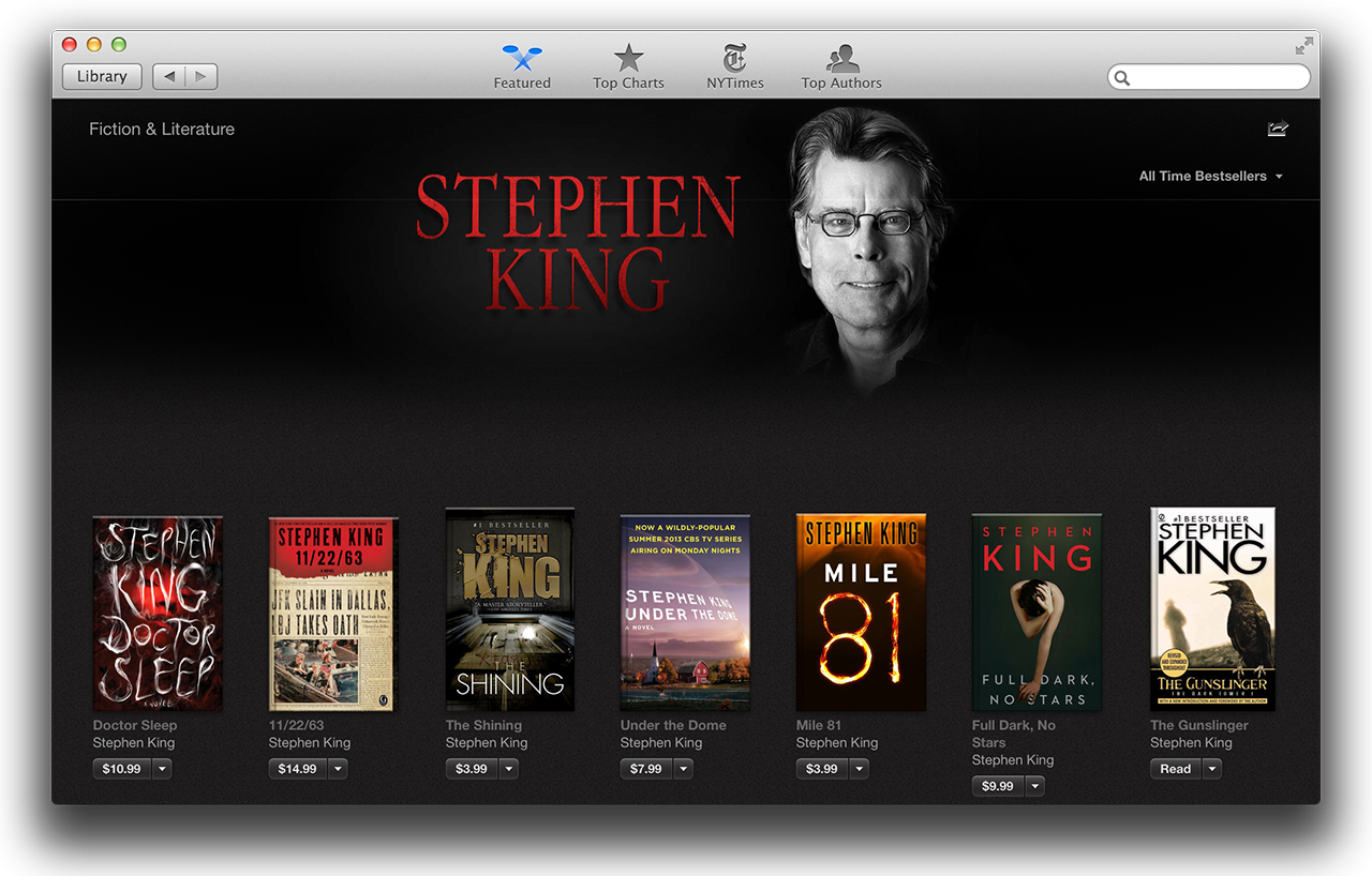 The iBookstore should look familiar to anyone who frequents Apple's other digital marketplaces.