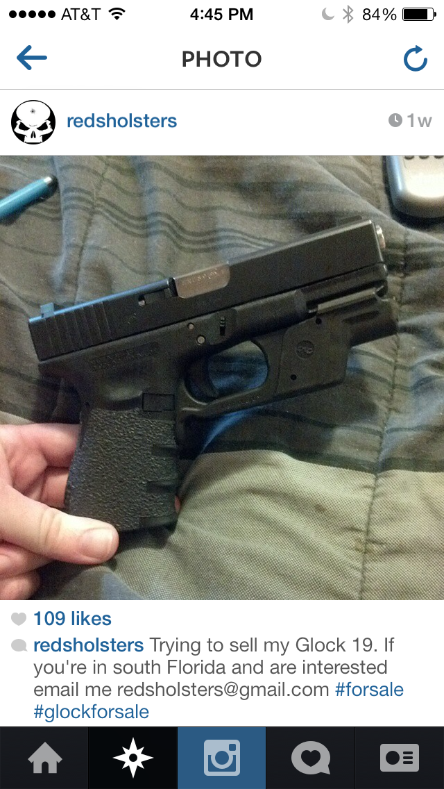 why iphone is banned on instagram but gunforsale is not