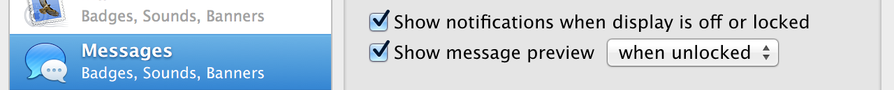 New privacy-related notification preferences.