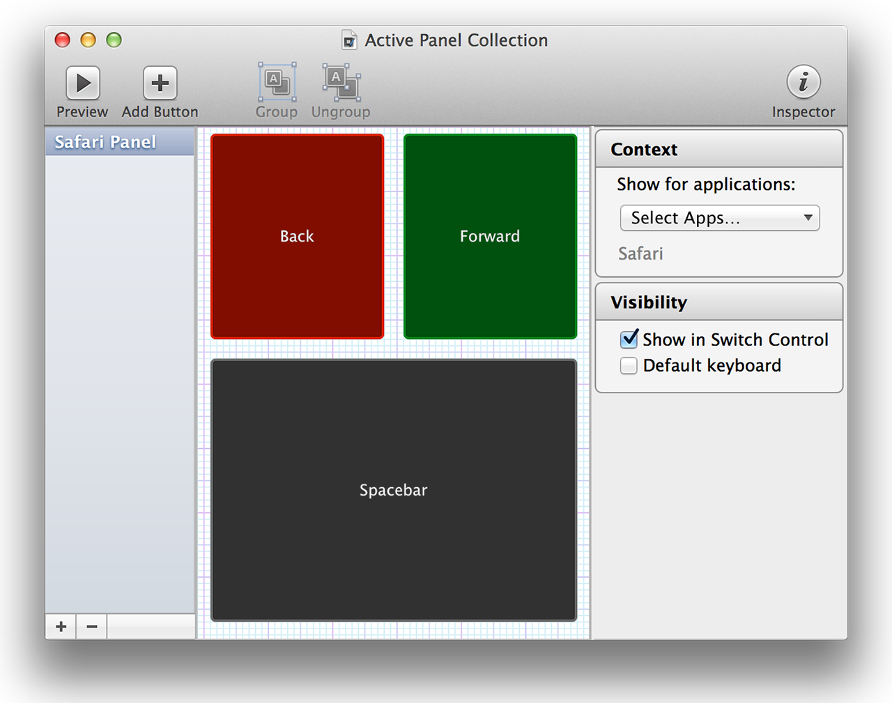 Panel Editor is an entire, separate application for creating custom input panels.