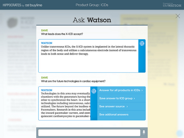Hippocrates, a medical application, lets you ask Watson.