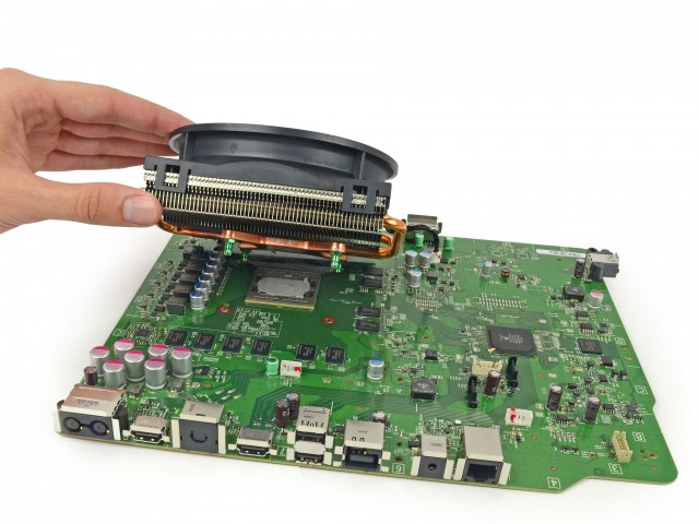 The CPU/GPU are kept cool by a large heatsink/fan assembly, which can be easily replaced if necessary.