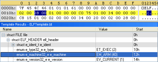 "The ""e_machine"" value in ELF header indicates that the worm is for ARM architecture."