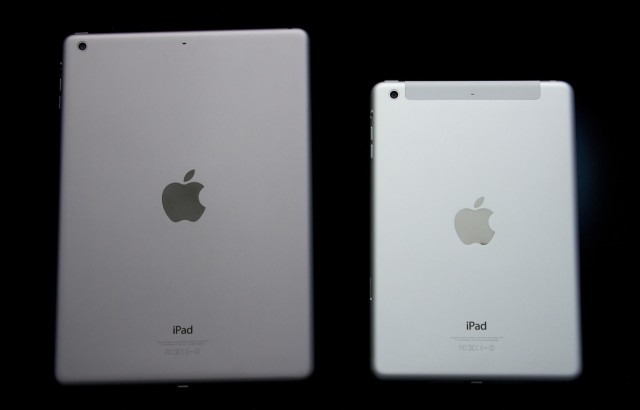 "Both tablets come in ""space gray"" (left) and silver (right)."
