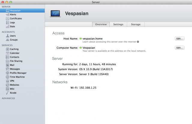 Server.app has been spruced up, but it should still be familiar if you used it in Mountain Lion.