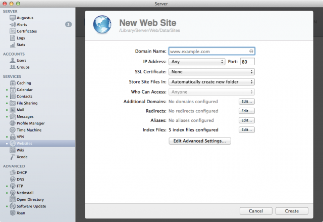 You can create as many new sites as you have space and bandwidth for.
