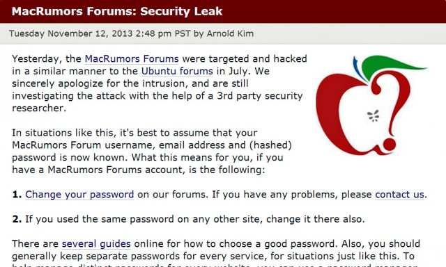Hack of MacRumors forums exposes password data for 860,000 users | Ars ...