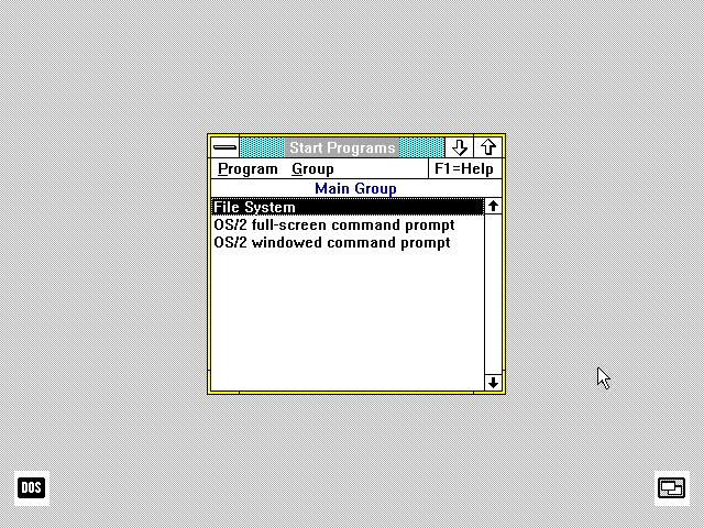 OS/2 Version 1.1. Even though it finally had a GUI, it didn't do very much.