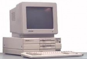 "Dan Goodin: ""If I remember correctly, the Epson Equity I had only had one floppy drive and a hard drive where this similar model has two floppies."""
