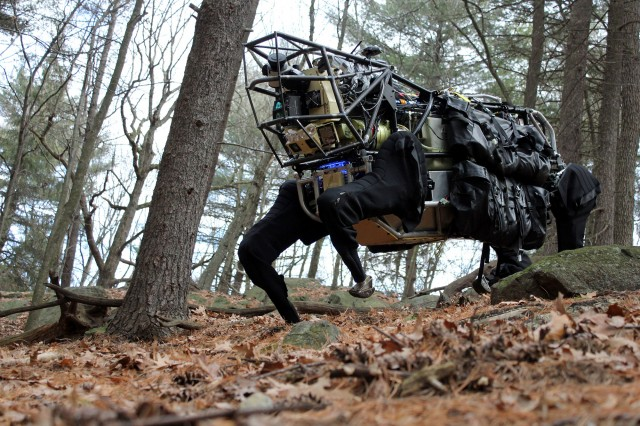 Boston Dynamics' Alpha Dog. Google owns this now.