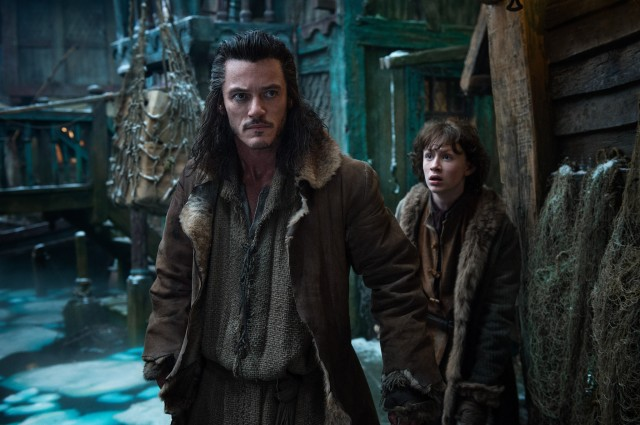 Luke Evans' Bard was in the book, but his role is greatly expanded in the film.