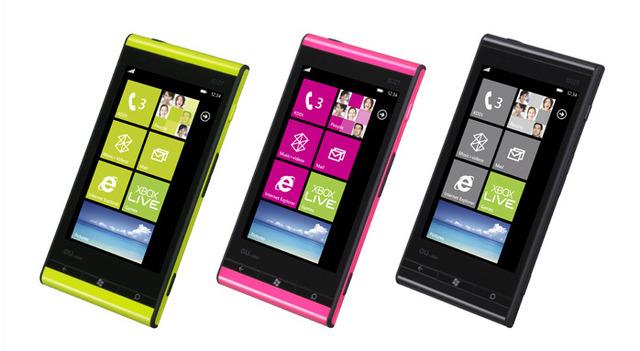 Fujitsu Toshiba IS12T handsets running Windows Phone 7.