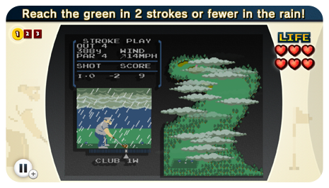 Playing this <i>Golf</i> challenge in the rain is about as much fun as playing actual golf in the rain.