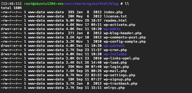 The WordPress directory under the Web root.