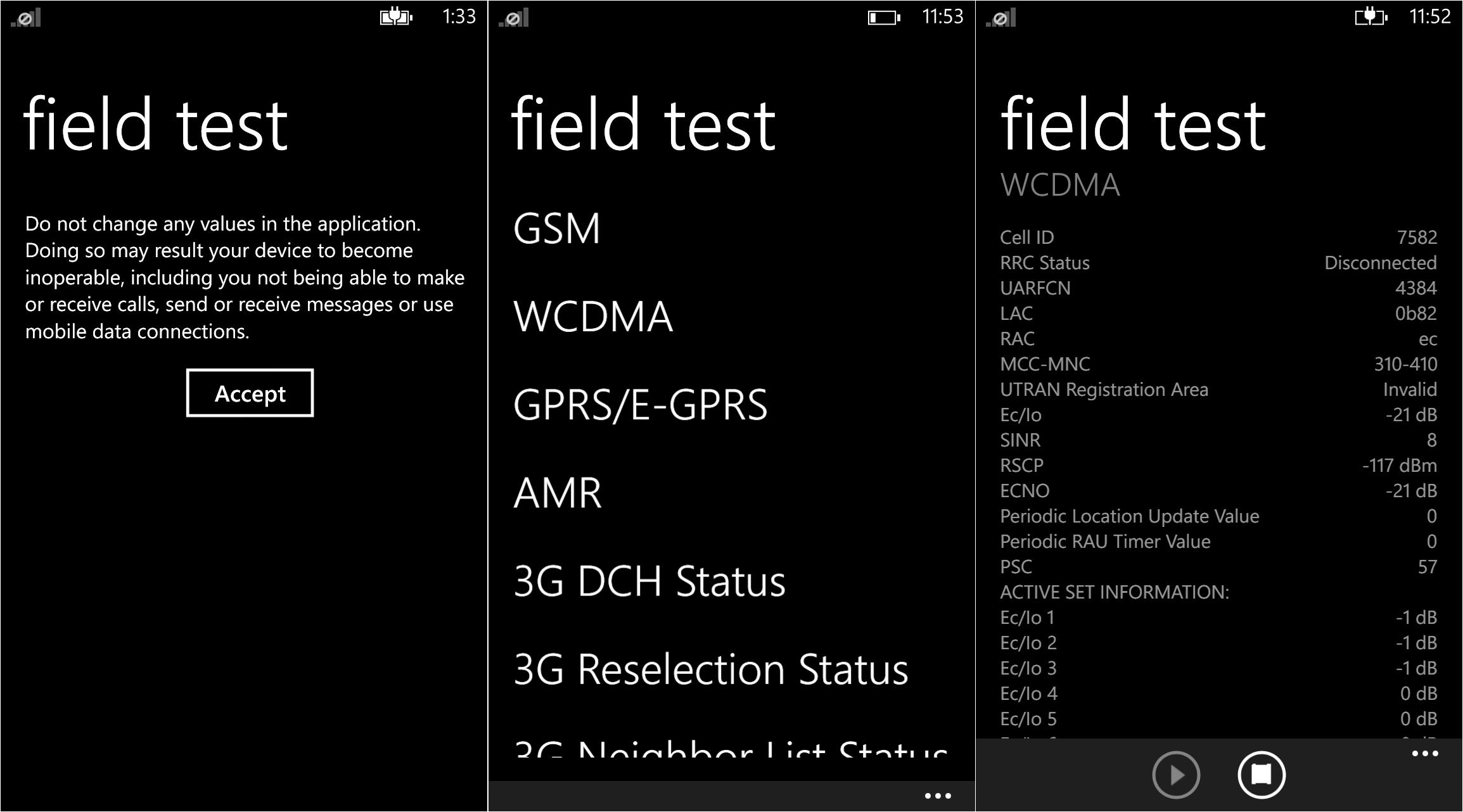 Windows Phone's Field Test app.