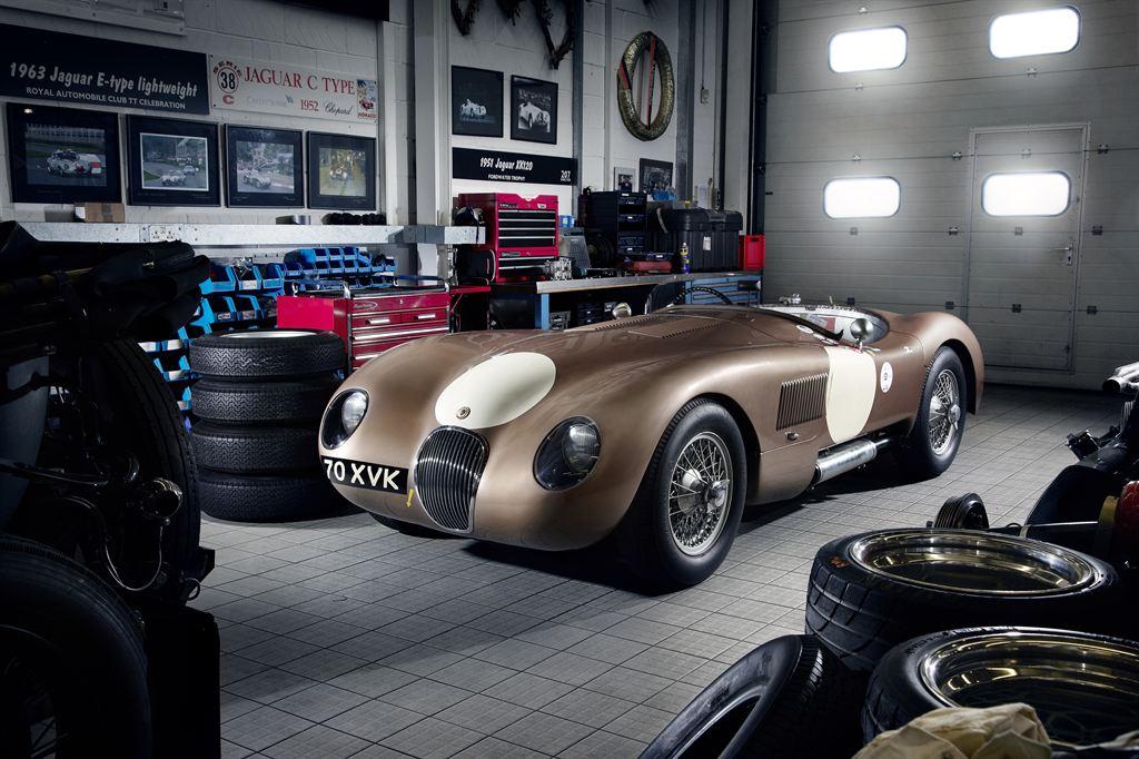A Jaguar C-Type.