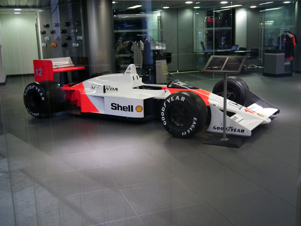 McLaren's 1988 F1 car, the MP4/4. Between them, Ayrton Senna and Alain Prost won every race but one that year.