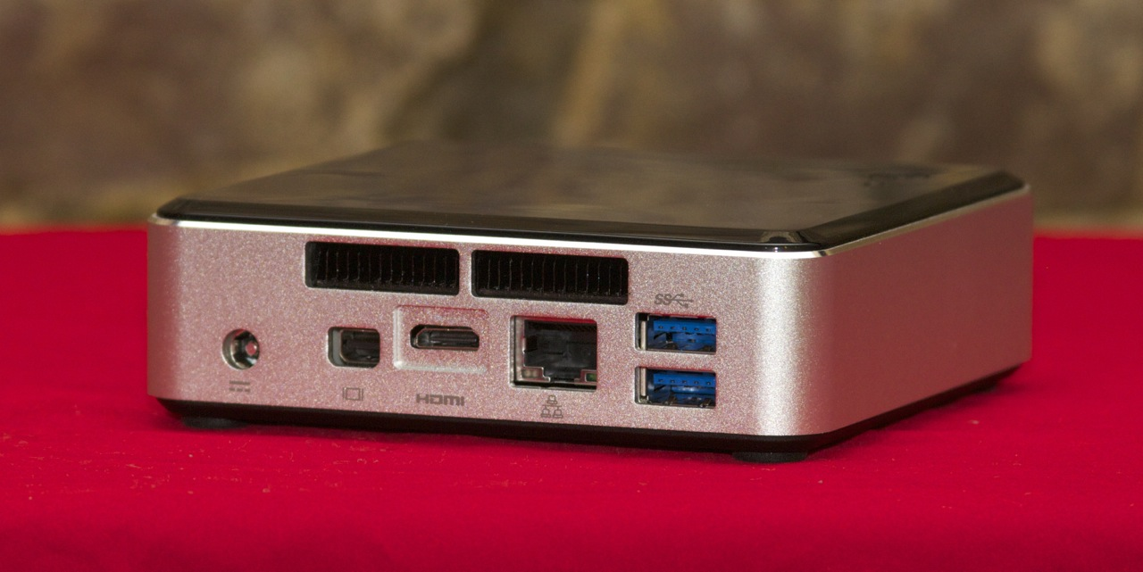 The NUC has all the ports you'd need from a basic workstation, and it sports robust multi-monitor support.