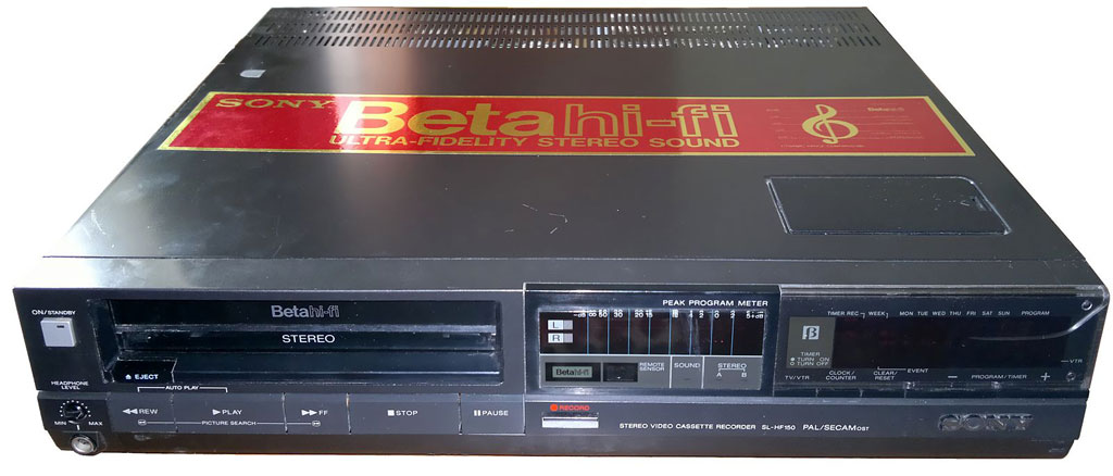 The Sony Betamax, circa 1985.