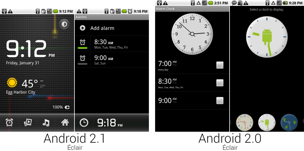 The revamped clock app.