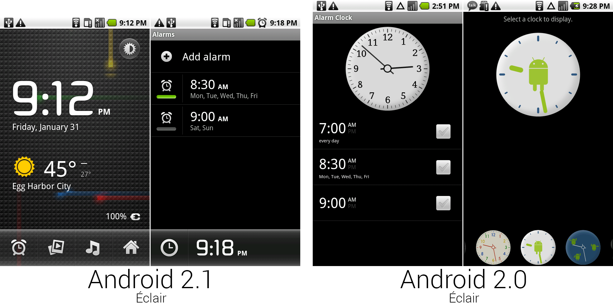 The revamped clock app.