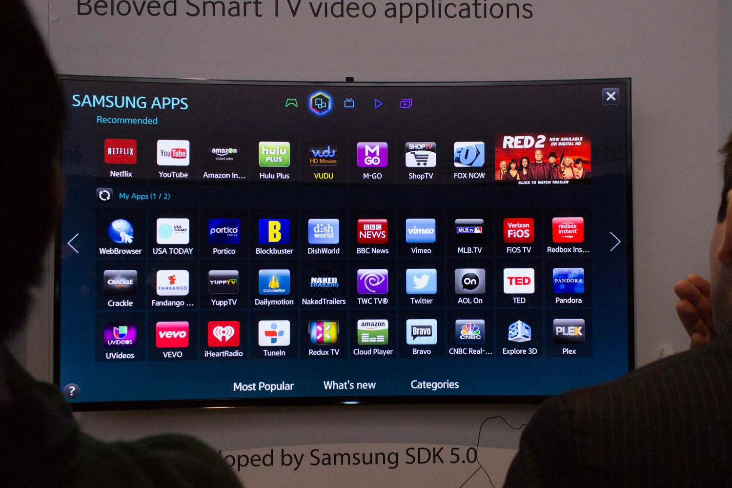 Samsung showed a curved 4K model last year, and this year decided to take them mainstream.