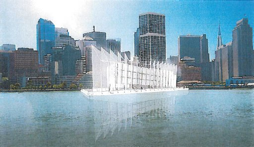 An artist's rendering of the finished barge.