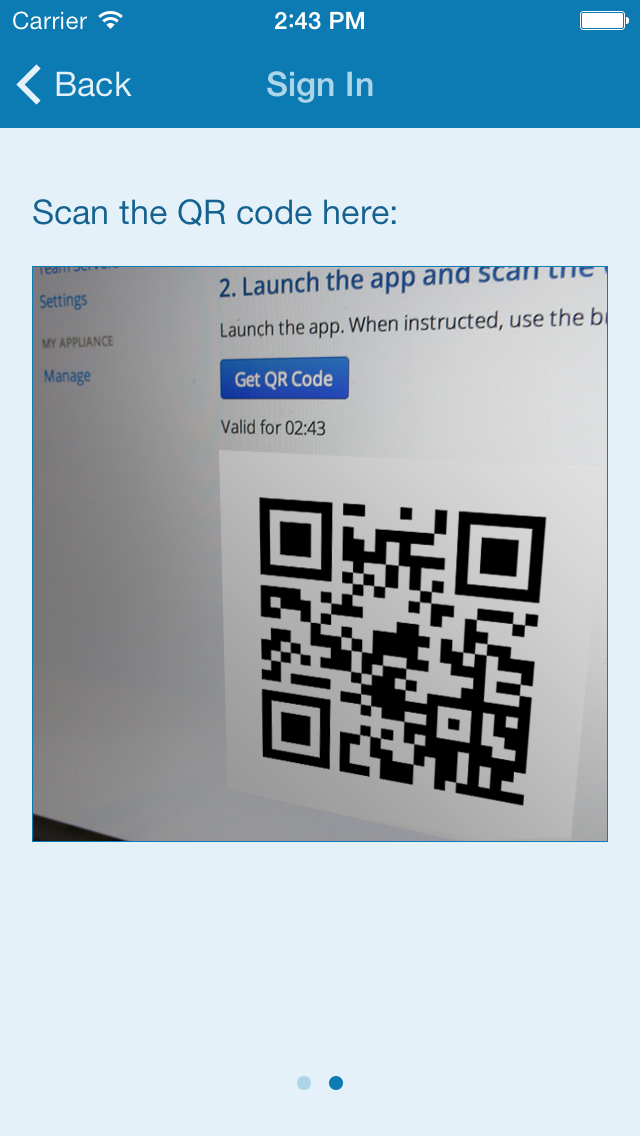 AeroFS Private Cloud users will need to scan a QR code to set the app up rather than typing in server settings manually.