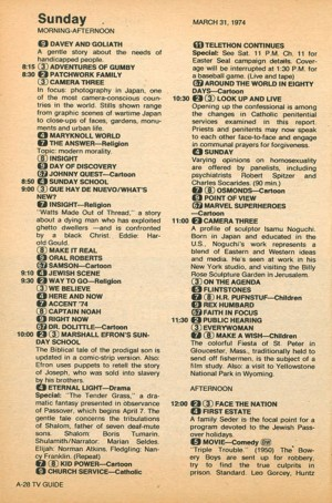 If you wanted to watch any of these 1974 shows, you needed to be in front of your TV when it was broadcast.