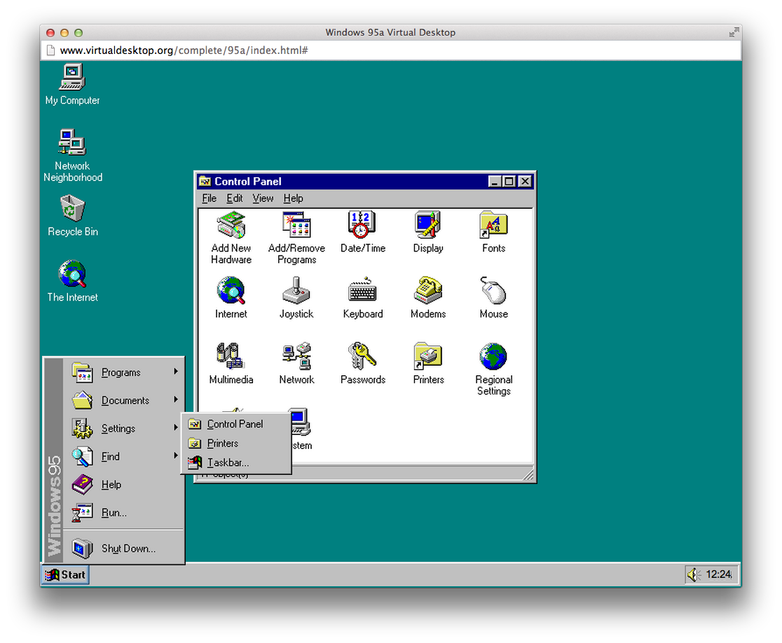7 classic versions of windows and mac os you can run in a for Windows windows