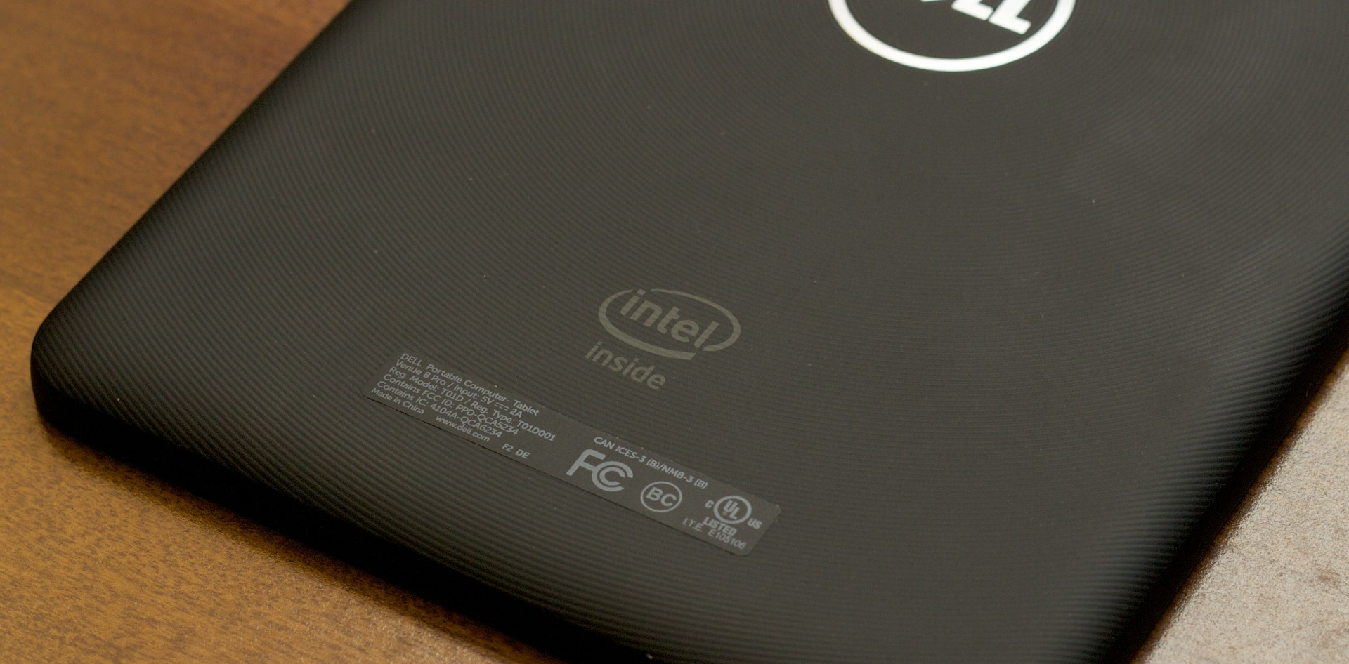Intel's branding is just as prominent on tablets as it is on laptops and desktops.