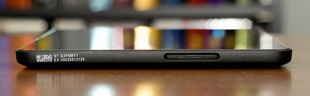 There's a single speaker on the tablet's bottom edge. It's fine for basic use, but nothing to write home about.