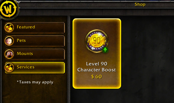 world of warcraft�s 60 levelboosts reflect important