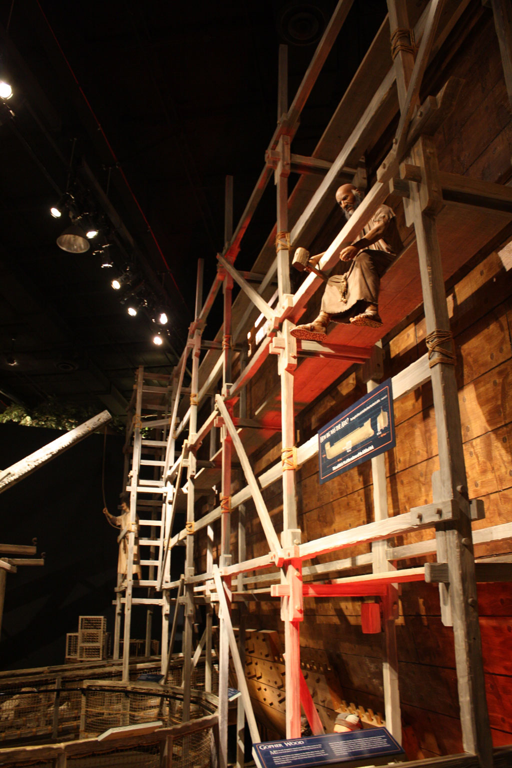The Ark Construction Site at the Creation Museum.