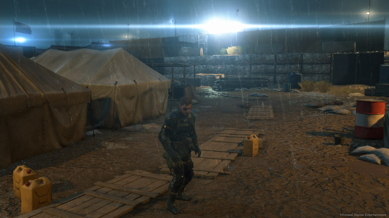 A scene from <i>Ground Zeroes</i> on the Xbox One...