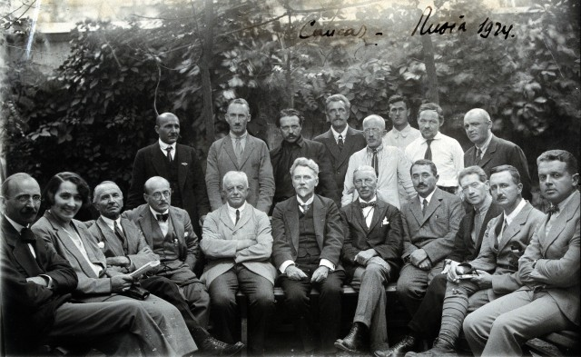 The public health fight against malaria goes back many years. This is a photo of a malaria committee organized by the League of Nations.