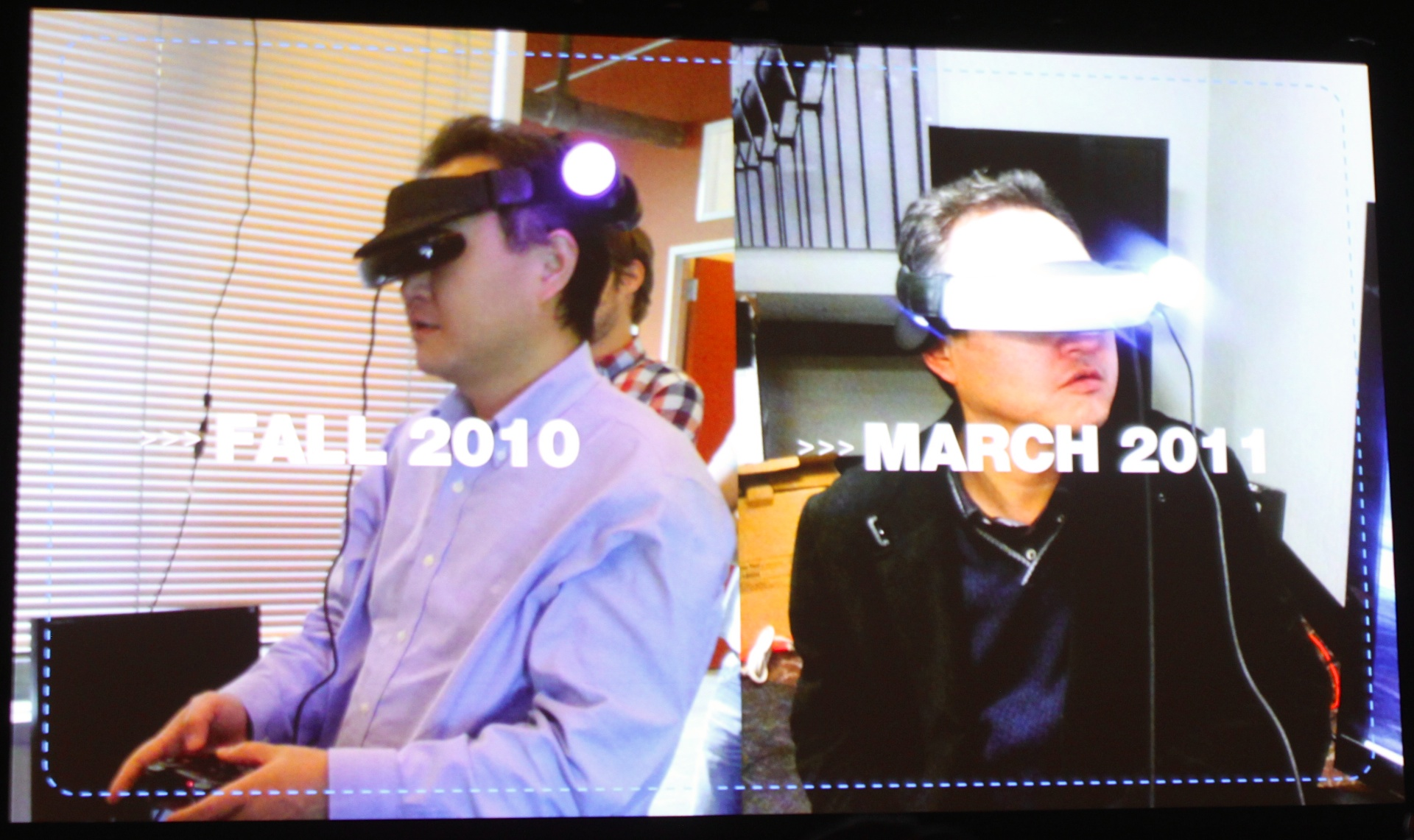 Some of the jury-rigged prototypes Sony tested during Project Morpheus development.