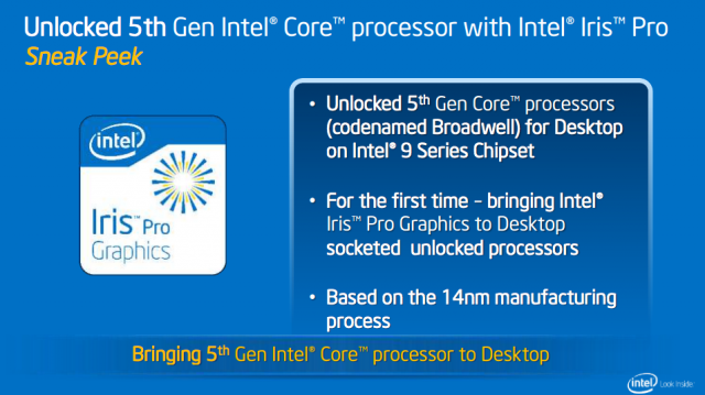 Iris Pro comes to Intel's socketed desktop CPUs.