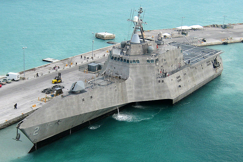 The Austal USA-built trimaran USS Independence.