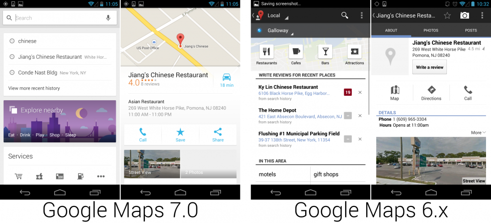 The new Google Maps cut a lot of fat and displayed more information on a single screen.