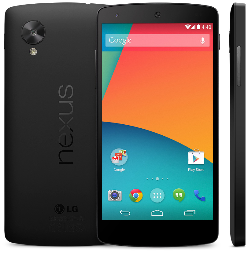 The LG-made Nexus 5, the launch device for KitKat.